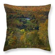 Montgomery Hillside Of Color Throw Pillow