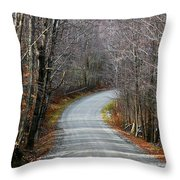 Montgomery Mountain Rd. Throw Pillow