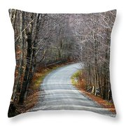 Montgomery Mountain Road Throw Pillow