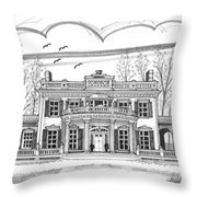 Montgomery Place Red Hook Ny Throw Pillow by Richard Wambach