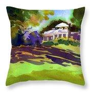 Monticello In October Throw Pillow