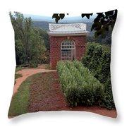 Monticello Vegetable Garden Pavilion Throw Pillow