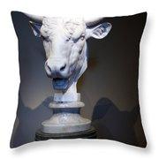 Monti's Head Of A Bull Throw Pillow
