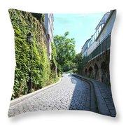 Montmarte Paris Cobblestone Streets Throw Pillow