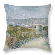 Montmartre  Behind The Moulin De La Galette Paris, July 1887 Vincent Van Gogh 1853  1890 Throw Pillow