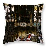 Montmartre Carousel Throw Pillow