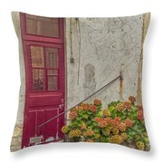 Montmartre Doorway Throw Pillow