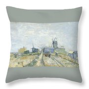 Montmartre   Mills And Vegetable Gardens Throw Pillow