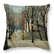 Montmartre Steps In  Paris Throw Pillow