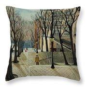 Montmartre Steps In  Paris Throw Pillow