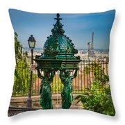 Montmartre Wallace Fountain Throw Pillow