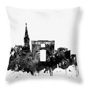 Montpellier Skyline-black Throw Pillow