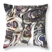 Montrails And Solomons Throw Pillow