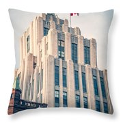 Montreal - Aldred Building Throw Pillow