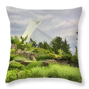 Montreal Biodome Backdrop Throw Pillow