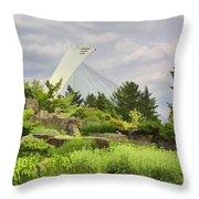 Montreal Biodome Backdrop Throw Pillow