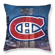 Montreal Canadiens City Throw Pillow