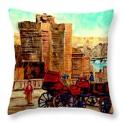 Montreal City View Throw Pillow