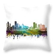 Montreal Cityscape 01 Throw Pillow