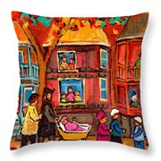 Montreal Early Autumn Throw Pillow by Carole Spandau