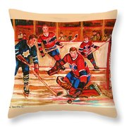Montreal Forum Hockey Game Throw Pillow