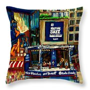 Montreal Jazz Festival Arcade Throw Pillow