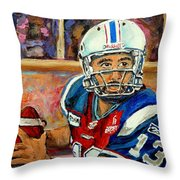 Montreal Je Me Souviens By Montreal Streetscene Artist Carole Spandau Throw Pillow