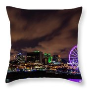 Montreal Observation Wheel Throw Pillow