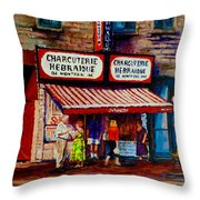 Montreal Paintings  Available For Fundraisers By Streetscene  Artist Carole Spandau  Throw Pillow