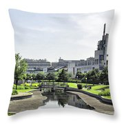 Montreal Peace In The Rush Throw Pillow