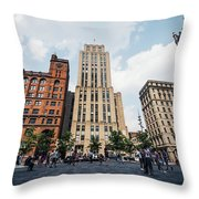 Montreal - Place Darmes Throw Pillow