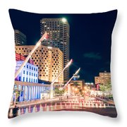 Montreal - Place Des Arts Throw Pillow
