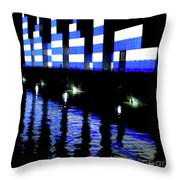 Montreal Port Night Throw Pillow