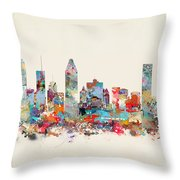 Montreal Quebec Skyline Throw Pillow