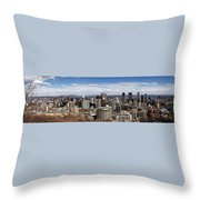 Montreal Seen From Above Throw Pillow