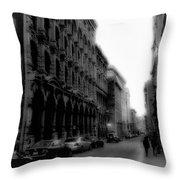 Montreal Street Black And White Throw Pillow