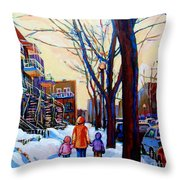 Montreal Winter Throw Pillow