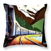 Montreux, Golden Mountain Railway, Switzerland Throw Pillow