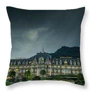 Montreux Palace Throw Pillow
