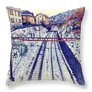 Montreux, Tracks In The City. Throw Pillow