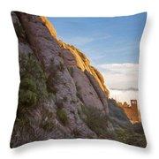 Montserrat Hike Painterly Throw Pillow