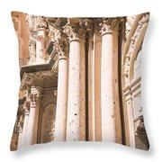 Montserrat Monastery Throw Pillow