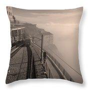 Montserrat Winter Morning Bw Throw Pillow