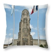 Monument Central Square Quezaltenango Guatemala Throw Pillow