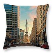 Monument Circle - Indianapolis Throw Pillow