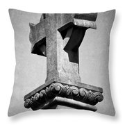 Monument Cross Macroom Ireland Throw Pillow