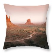 Monument Dusk Throw Pillow by Mike  Dawson
