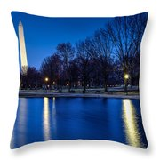 Monument In Blue Throw Pillow