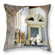 Monument In St Mylor Church Throw Pillow