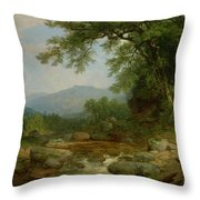 Monument Mountain - Berkshires Throw Pillow by Asher Brown Durand